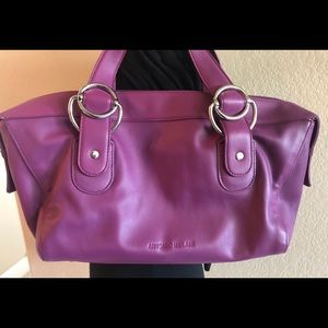 Antonio Milani plum colored satchel.